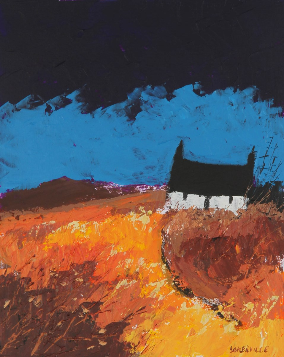 Fading Daylight by george somerville - Original on Board sized 8x10 inches. Available from Whitewall Galleries